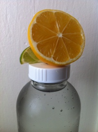 Filtered water with lemon. First thing every morning.