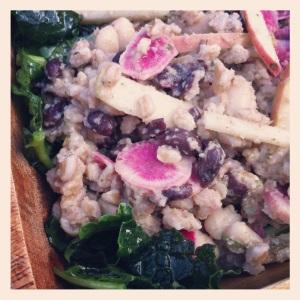 bean & farro salad w kale