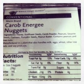 carob energeen nuggets nutrition