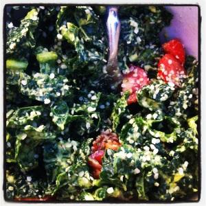 kale & tomato salad