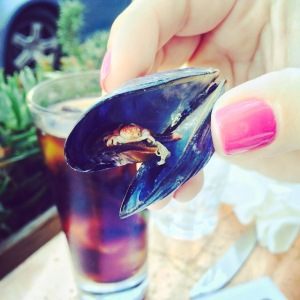 crab in mussel