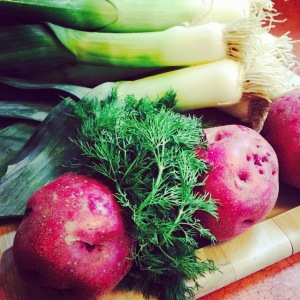 potato leek soup - ingredients