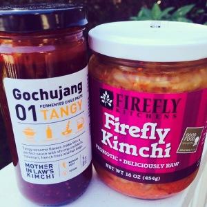 kimchi and gochujang