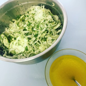 shaved fennel salad ingredients